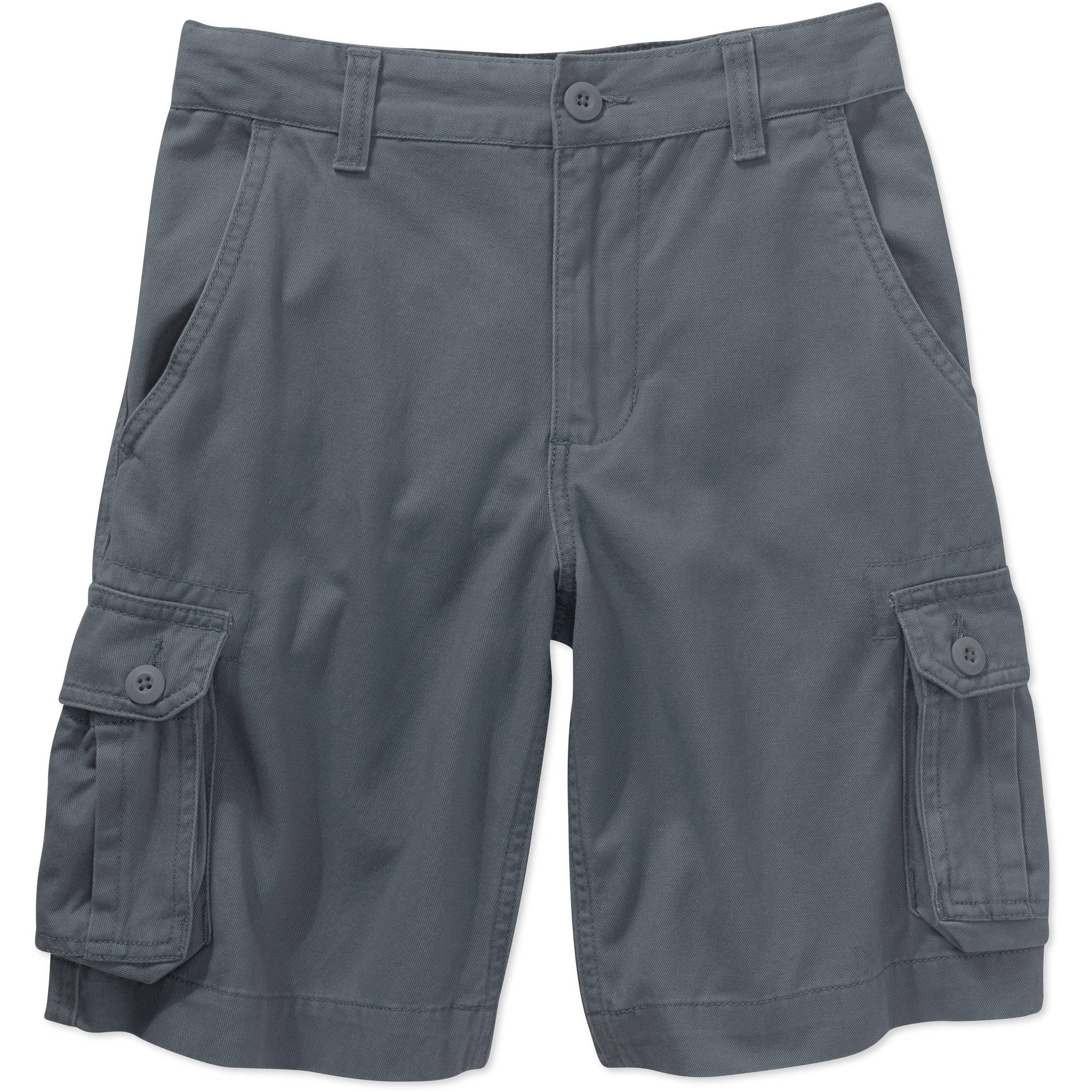 Faded Glory Boys Solid Cargo Shorts