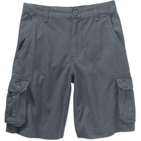 Faded Glory Boys Solid Cargo Shorts - Walmart.com