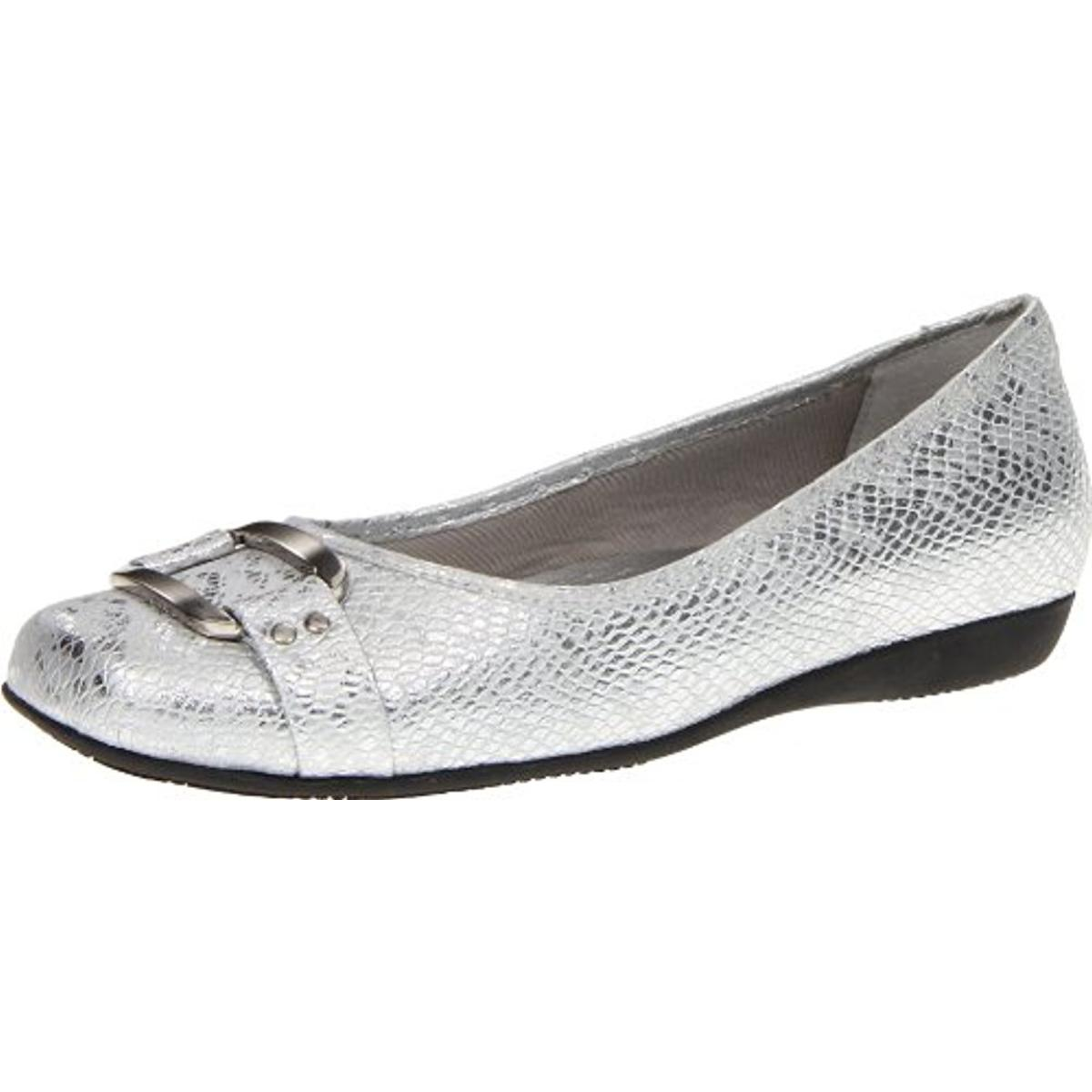Trotters Womens Sizzle Signature Embellished Slip On Ballet Flats by Trotters