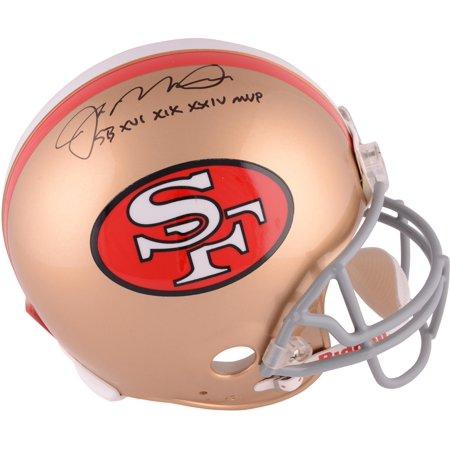 "Joe Montana San Francisco 49ers Autographed Throwback Pro Line Helmet with ""SB MVP"" Inscription - Fanatics Authentic Certified"
