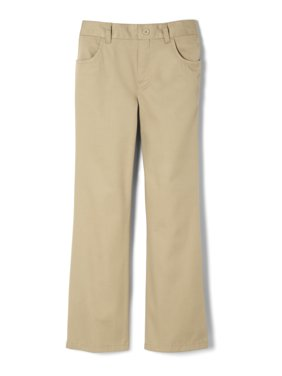 French Toast Girls School Uniform Pull-On Twill Bootcut Pants, Sizes 4-20 & Plus