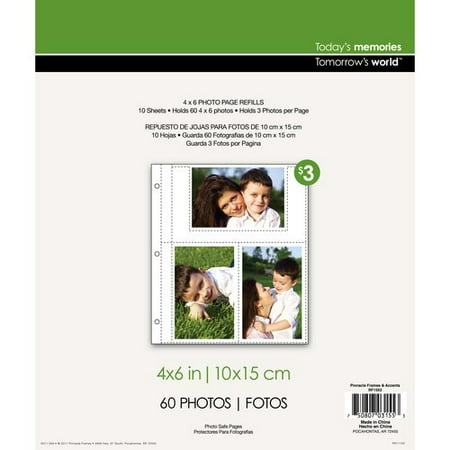 Pinnacle Frames And Accents Photo Album Page Refill Walmartcom