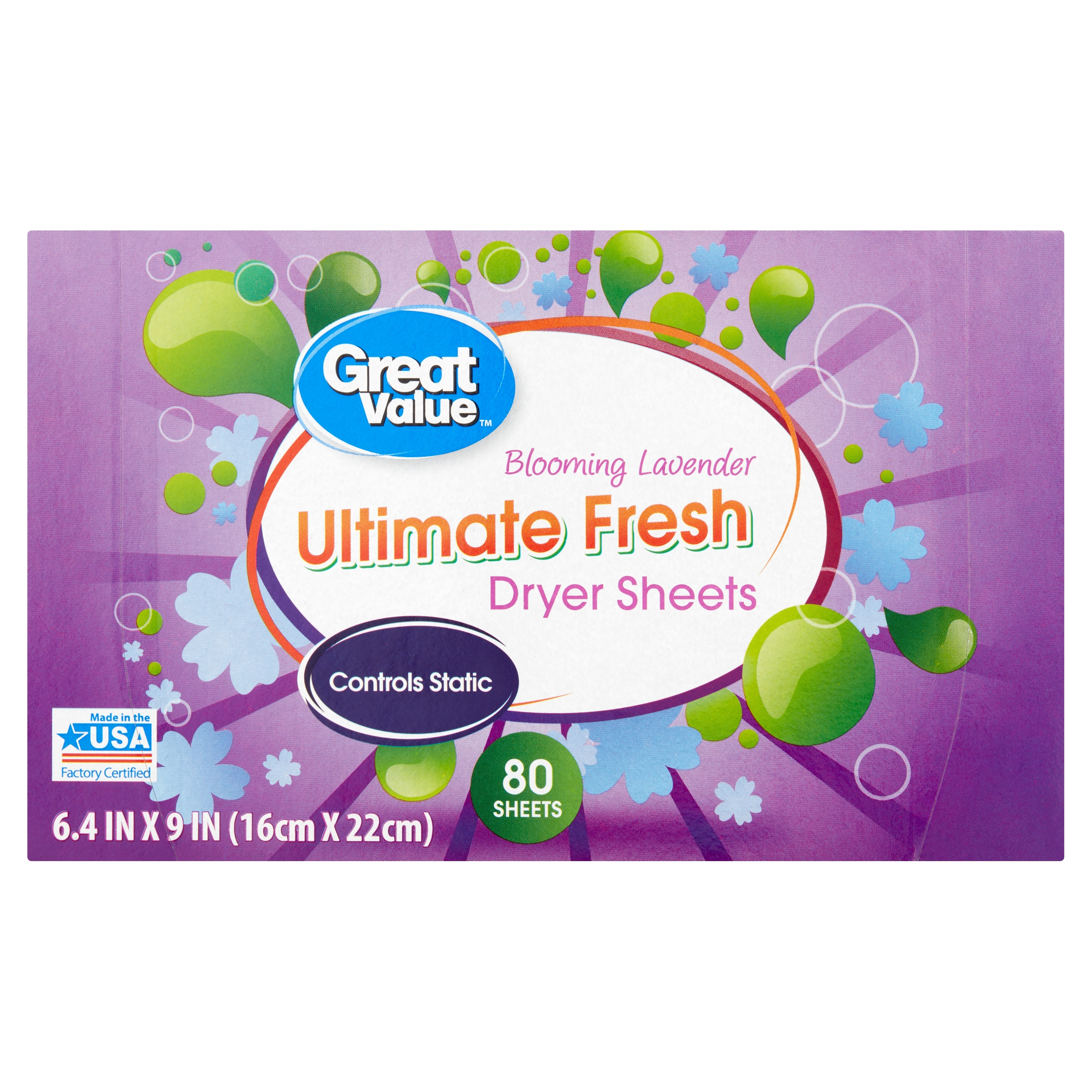 Great Value Ultimate Fresh Blooming Lavender Dryer Sheets