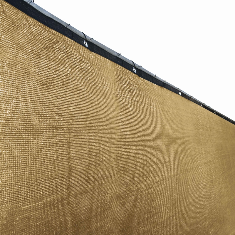 Aleko Privacy Mesh Fabric Screen Fence with Grommets - 4 x 25 Feet - Beige