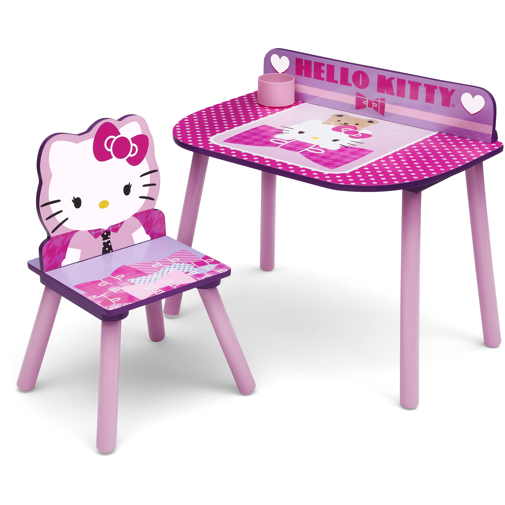 Hello kitty chair - Girls Character Desk And Chair Set With Bonus Multi Bin Toy Organizer Walmart Com