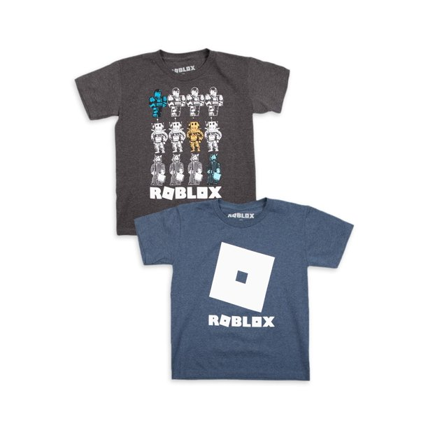 Roblox Roblox Boys 4 18 Group Logo Graphic T Shirts 2 Pack