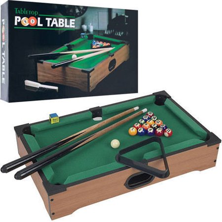 mini tabletop pool set billiards game includes game balls