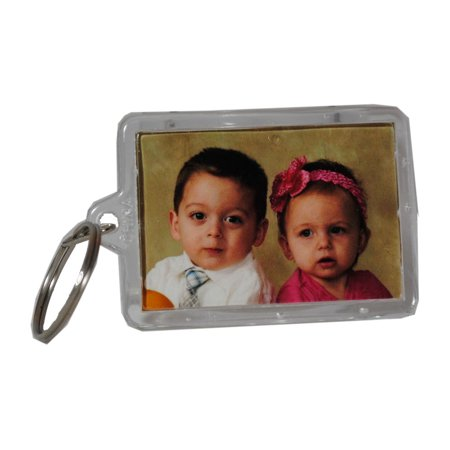 Picture Frame Key Chains Lot of 12 Clear Acrylic Photo Transparent Keychains](Cowbell Keychain)