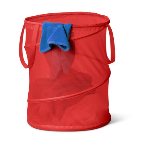 Honey Can Do Large Red Mesh Pop-Open Hamper