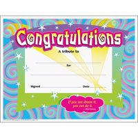 Trend, TEPT2954, Congratulations/Swirls Award Certificates, 30 / Pack