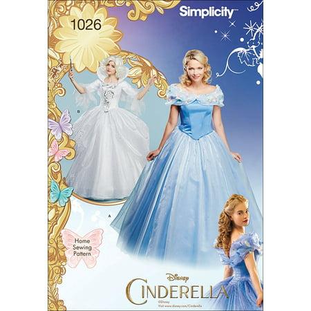 Simplicity Misses' Size 14-22 Disney Cinderella & Fairy Godmother Costume Pattern, 1 Each (Disney Fairy Godmother Costume)