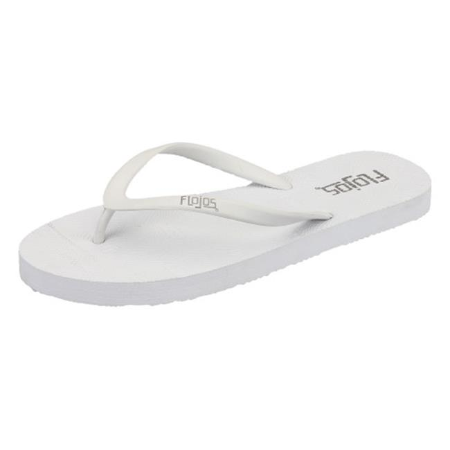 Flojos Ladies Kai Sandal, White Size 6 by Flojos