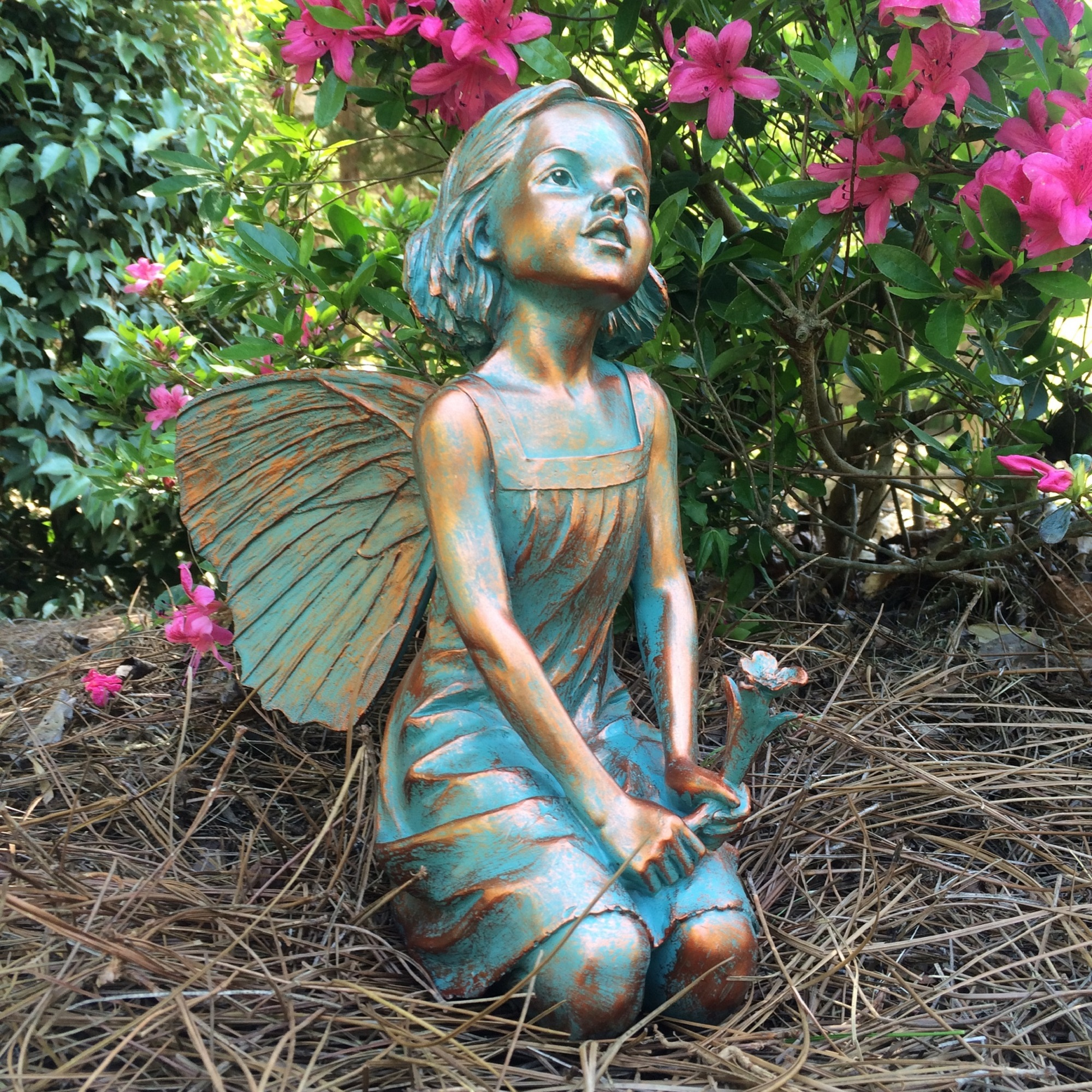 "Homestyles 12""H Rebecca Fairy in Bronze Patina Home Patio & Garden Statue by GSI Homestyles"