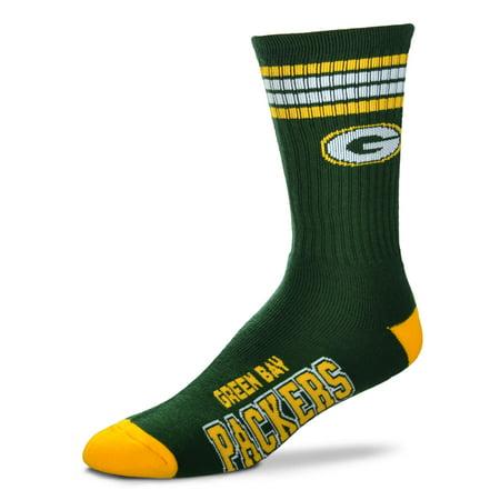 Green Bay Packers 4 Stripe Deuce Green Socks