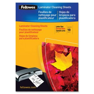 Fellowes Laminator Cleaning Sheets 10 Pack (Laminator Cleaning Card)