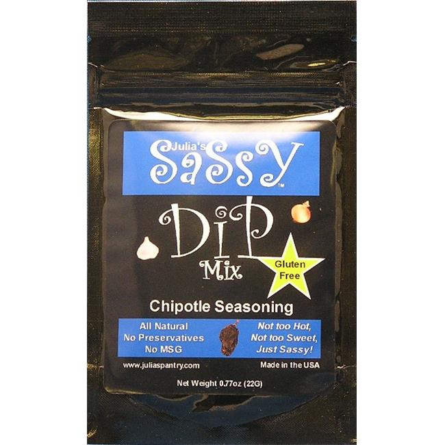 Julias Pantry JP519 Julias Sassy Dip and Seasoning Mix Chipotle, Pack of 4