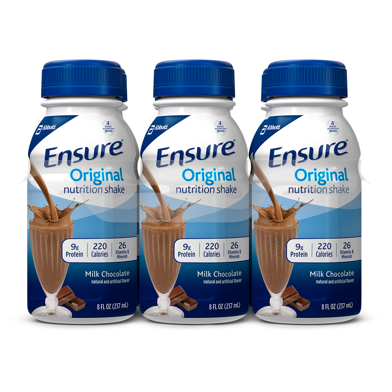 Ensure Original Nutrition Shake With 9 Grams Of Protein Meal Replacement Shakes Dark Chocolate 8 Fl Oz 6 Count