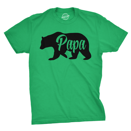 Mens Papa Bear Funny Shirts for Dads Gift Idea Humor Novelty Tees Family T shirt Wholesale Funny T-shirts