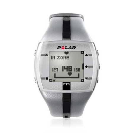 Polar 2014 FT4 Heart Rate Monitor Watch (Silver/Black)