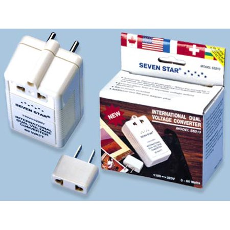 Seven Star 60W Dual Voltage Converter 60 Watt 110 to 220 volt or 220 volt to 110 volt Travel