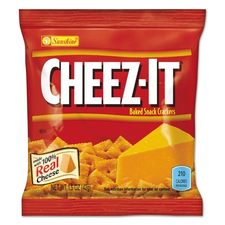 Cheez It Reduced Fat - Sunshine Cheez-It Reduced Fat Baked Snack Crackers, 1.5 oz, (Pack of 60)