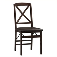 "Bowery Hill 18"" X Back Dining Chair in Espresso (Set of 2)"