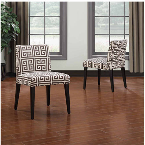 Handy Living Tait Greek Key Dining Chair, Set of 2, Multiple Colors