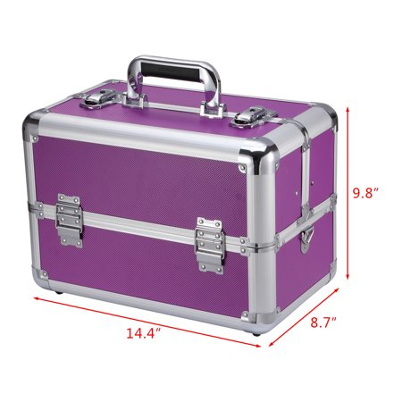 Ollieroo®  Large Capacity Makeup Train Case  Fit All Cosmetics