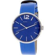 Marc Women's Peggy MBM1364 Blue Leather Quartz Fashion Watch