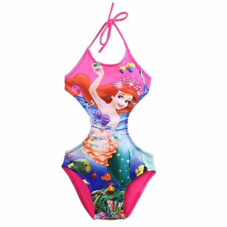 efd1174fc7 Summer Kids Baby Girl Cute Cartoon Swimwear Swimsuit Halter Bikini Set  Swimming Costume Bathing Suit