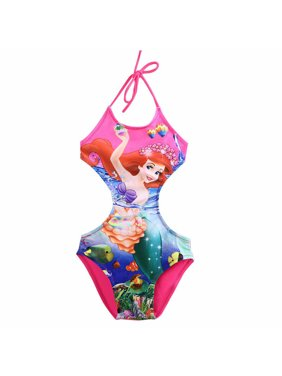Summer Kids Baby Girl Cute Cartoon Swimwear Swimsuit Halter Bikini Set Swimming Costume Bathing Suit