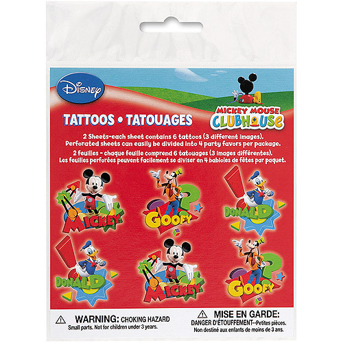 Mickey Mouse Clubhouse Tattoos, 12ct