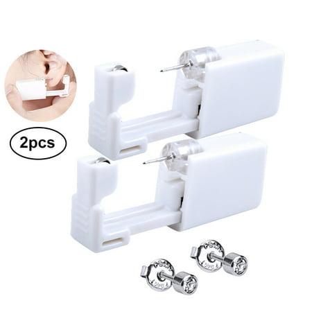 Ear Piercing Kit Portable Body Ring Piercing Piercing Kit with 2 Studs for Piercing Ears, Nose and Lips (Ear Piercing Gun Set)