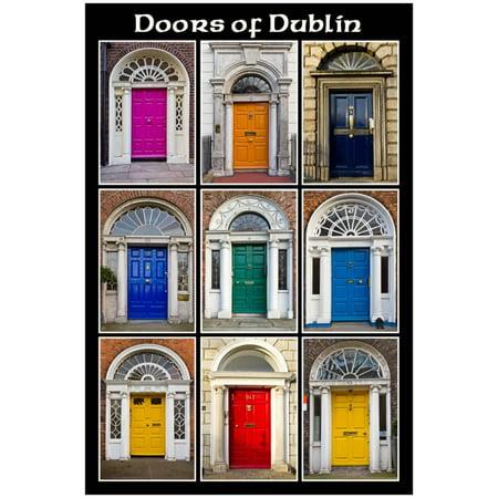 The Old Georgian Doors Of Dublin Poster - 13x18.5
