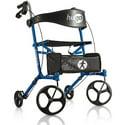 Hugo Sidekick Side-Folding Rollator Rolling Walker With Seat
