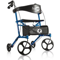 Hugo Sidekick Side-Folding Rollator Rolling Walker With Seat
