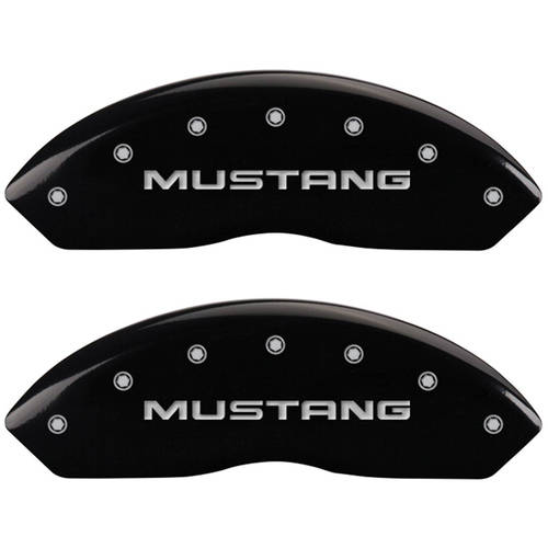 Set of 4 MGP Caliper Covers 10095Smg1Bk, Engraved Front: Mustang, Engraved Rear: Sn95 Gt, Black Powder Coat Finish,... by MGP CALIPER COVERS