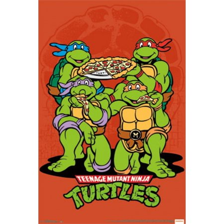 TMNT - Pizza Poster Poster - Tmnt Pizza