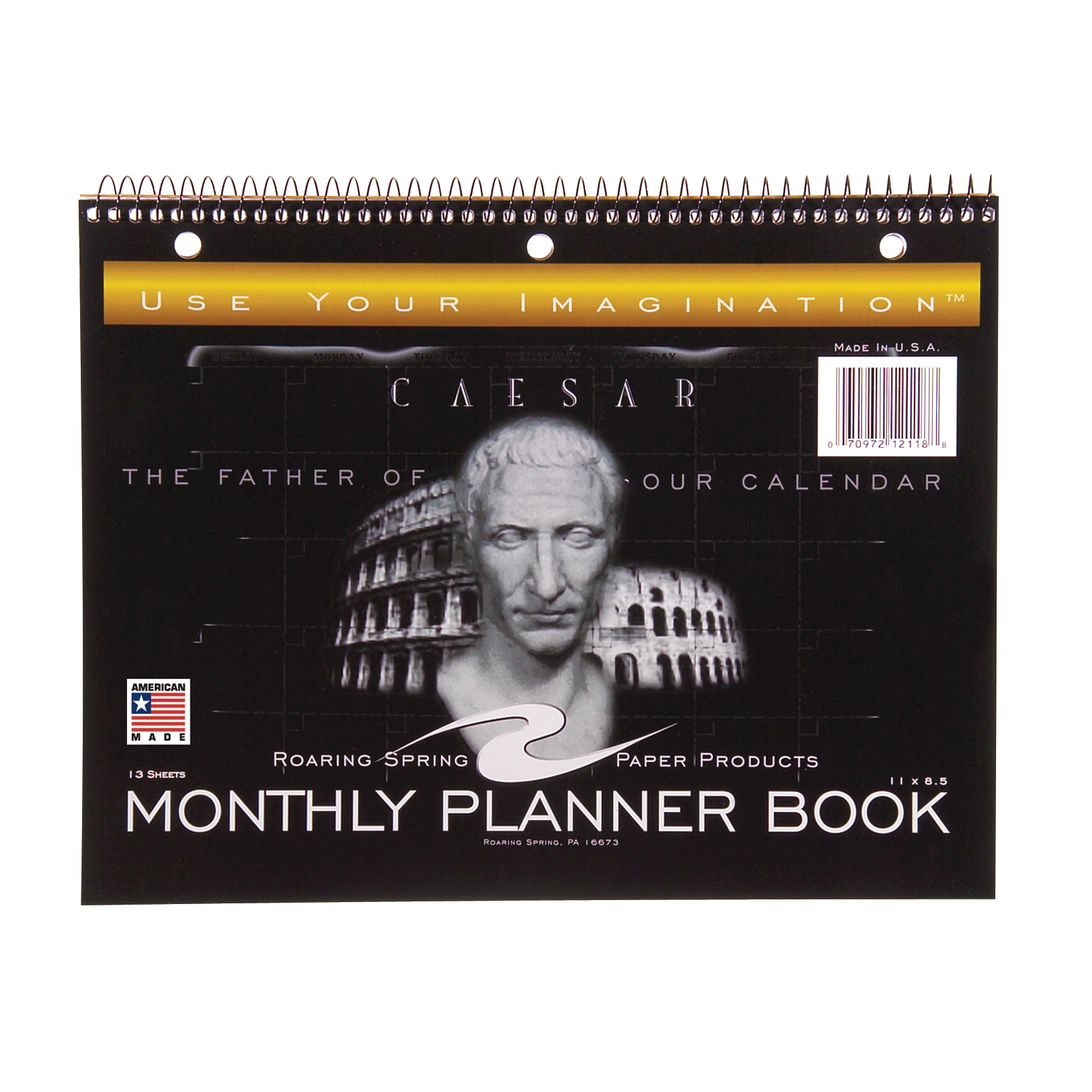 "MONTHLY PLANNER 11""x8.5"" MONTH/PAGE FORMAT"