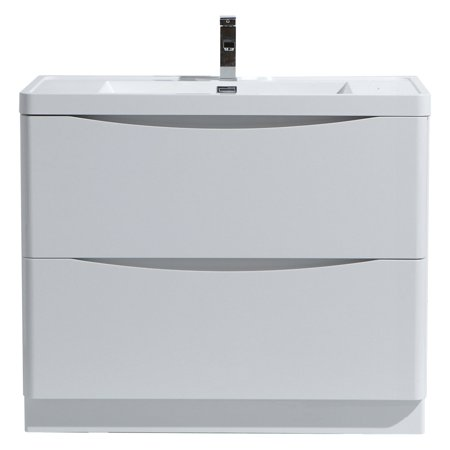 Morenobath smile 36 in free standing single sink bathroom - Walmart bathroom vanities with sink ...