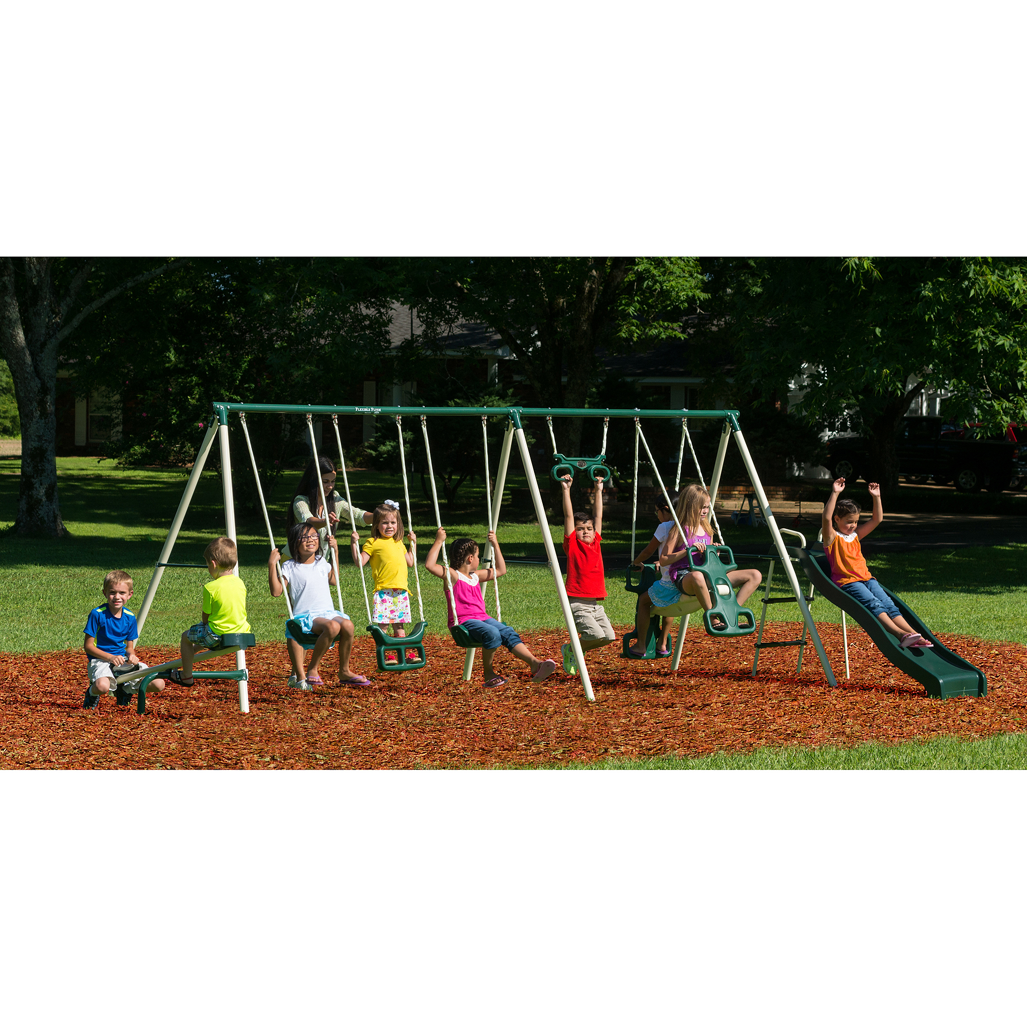 Flexible Flyer Big Adventure Metal Swing Set   Walmart.com