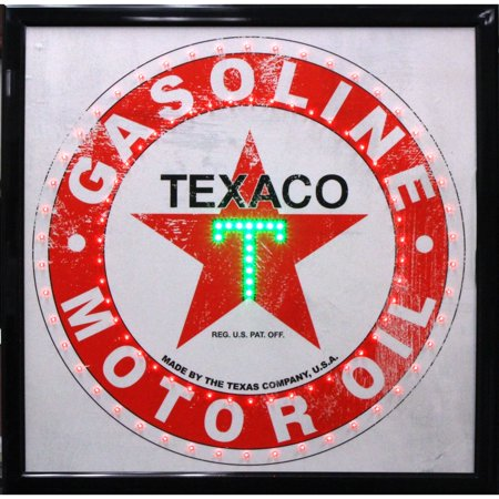 Crystal Art Gallery American Art Decor Texaco Gasoline Motor Oil Vintage Man Cave Garage Marquee LED (Vintage Motor Garage)