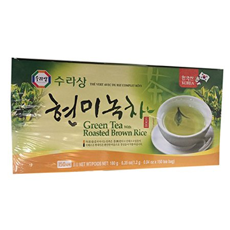 Mint Roasted Tea (Surasang Korean Tea (Green Tea with Roasted Brown Rice, 1 Pack))