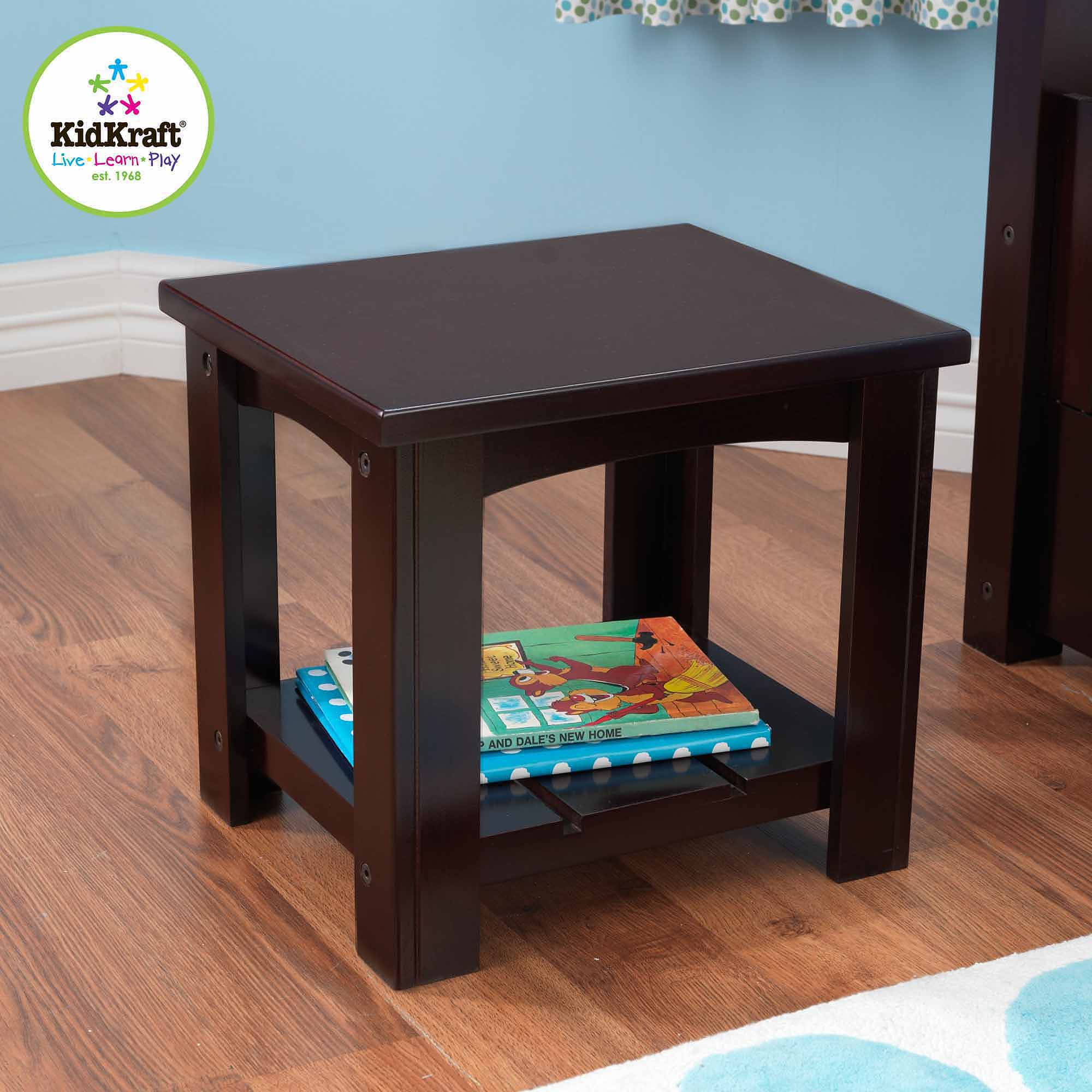 KidKraft Addison Toddler Side Table, Espresso