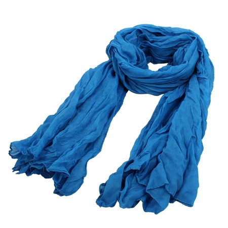 New Look Party Clothes (Women Ladies Rectangular Party Soft Wrap Shawl Neck Scarf Blue 165cm)