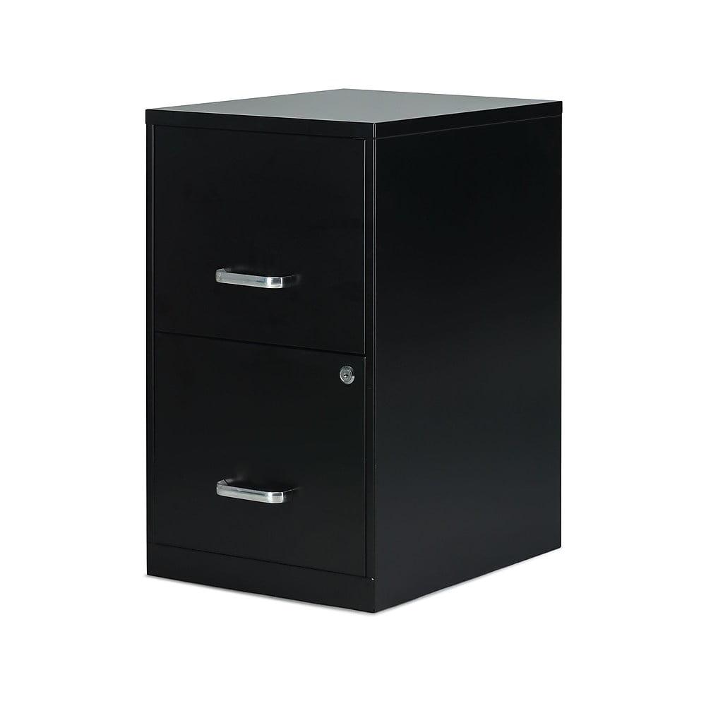 Staples 2 Drawer Vertical File Cabinet Locking Letter Black 18 D