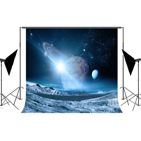 HelloDecor Polyster Planet Photography Backdrops, 7x5ft Outer Space Photo Backdrop Background for Photographers (Outer Space Photo)