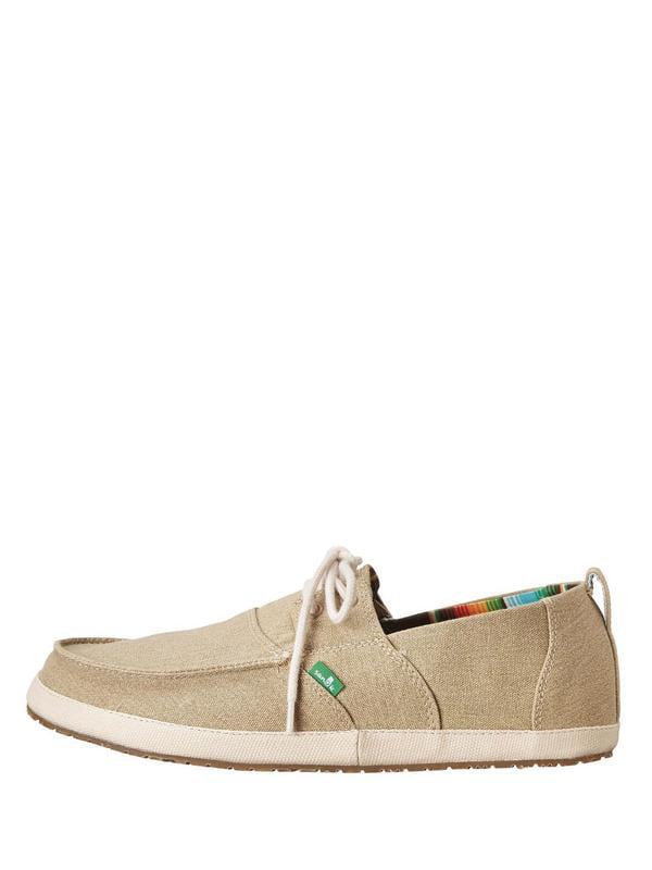 Sanuk Admiral Men's Lace Up Canvas Boat Shoes SMF10627