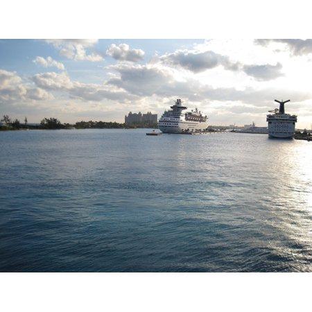 LAMINATED POSTER Cruising Travel Cruise Ships Florida Port Dock Poster Print 24 x