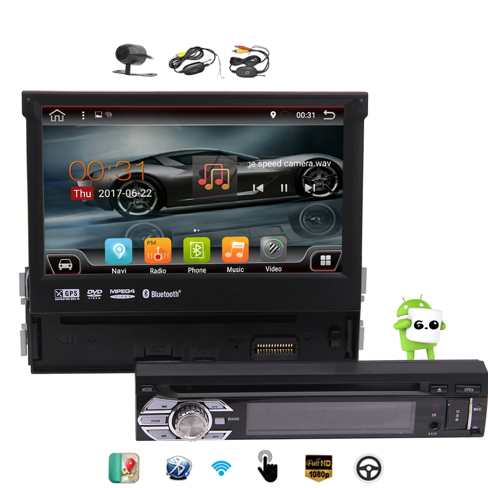 Wireless Rear Camera included! Newest Developed Android 6.0 Car Stereo Detachable Touch Screen 7'' Single Din... by EinCar